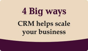 Booklet on 4 ways crm helps scale your business